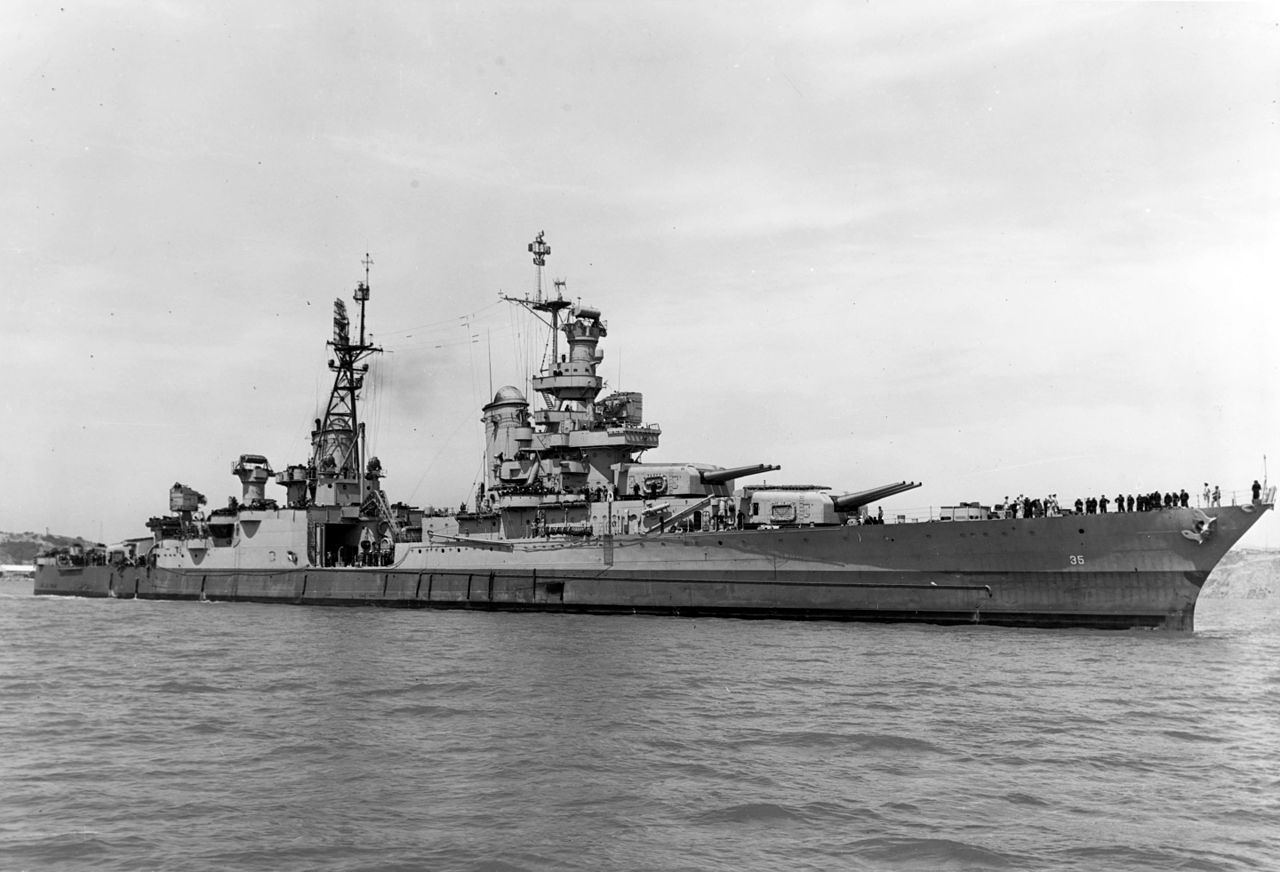 USS Indianapolis off Mare Island in 1944