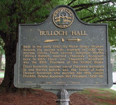 Bulloch Hall's Georgia Historical Marker