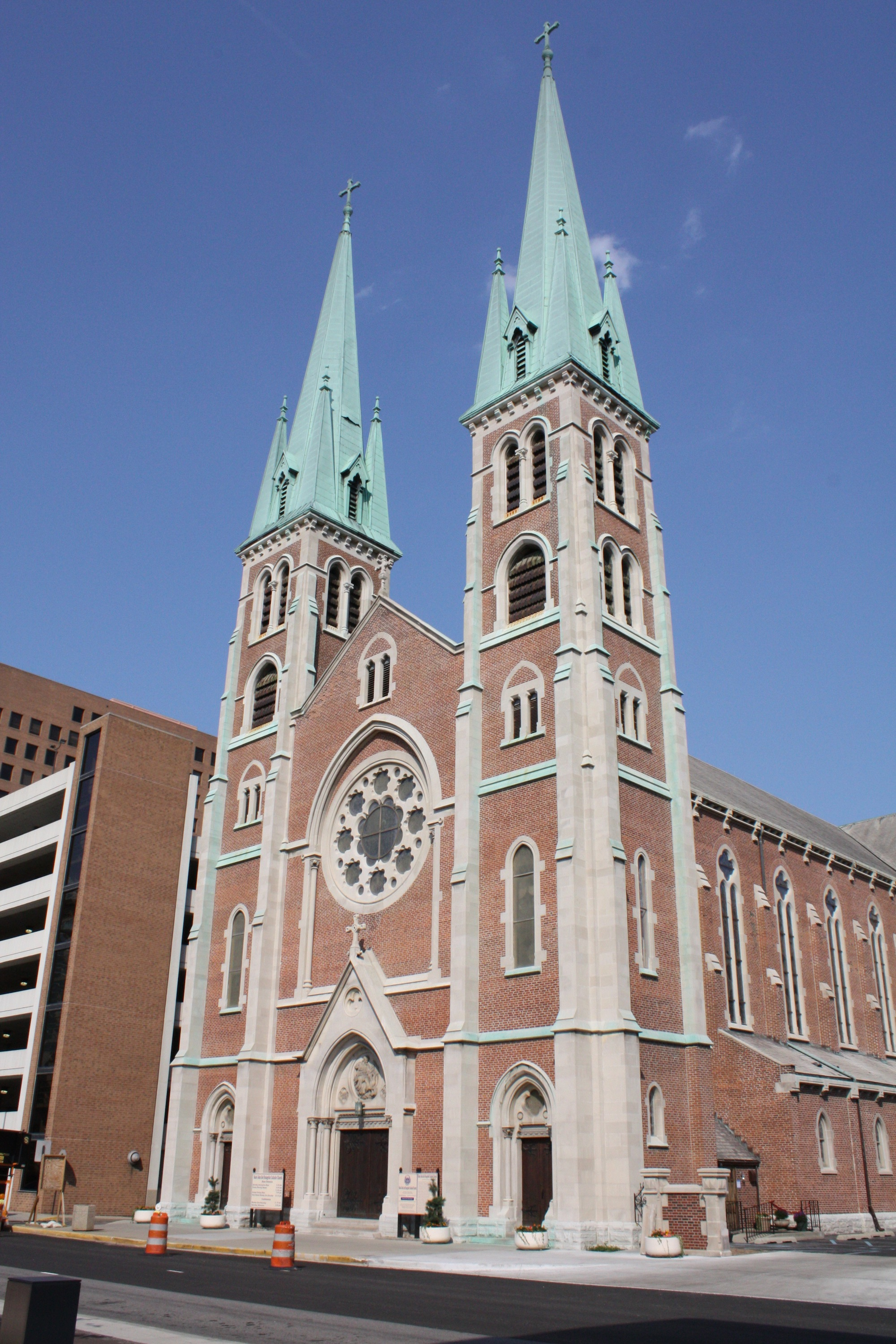 St. John's iconic spires were not added until 1893, over 20 years after the main part of the church had been completed.