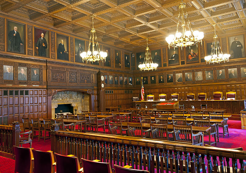 Richardson Courtroom of the New York State Court of Appeals.
