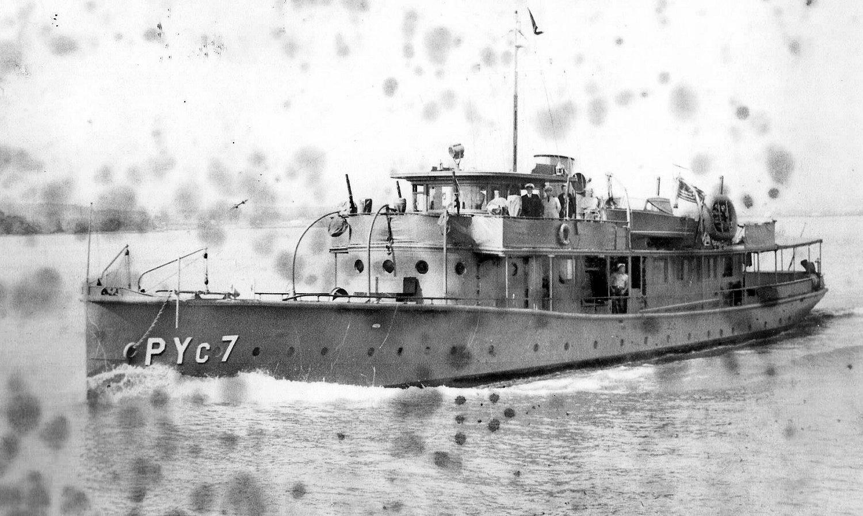 Vessel as the USS Aquamarine PYc 7, courtesy of Jim Swank