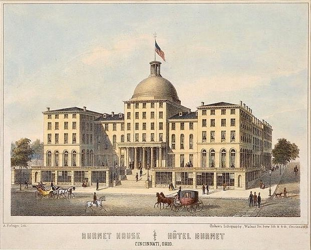 The Burnet House as it appeared in the 19th century.