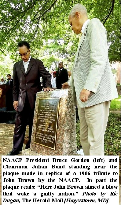 NAACP leaders at the commemoration of the tablet. Image obtained from John Brown the Abolitionist Blog.