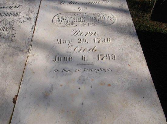 Patrick Henry's Grave Stone
