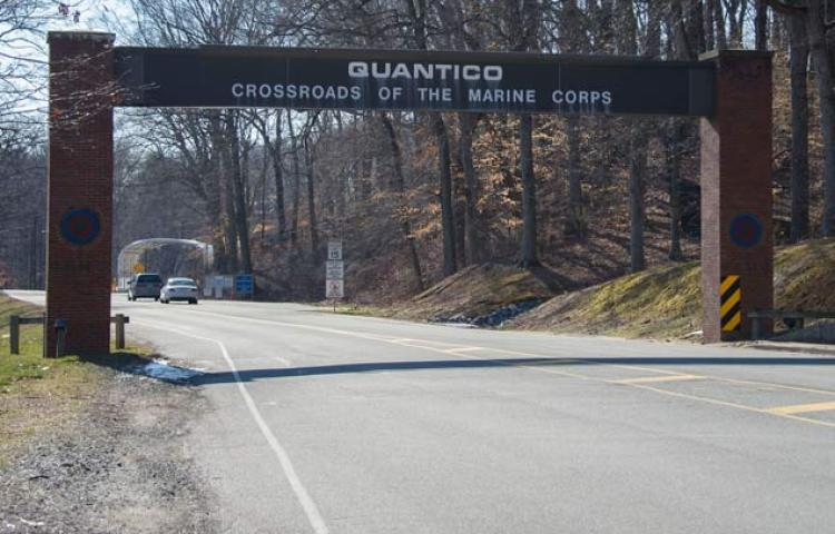 Entrance to the Marine Corp Base Quantico