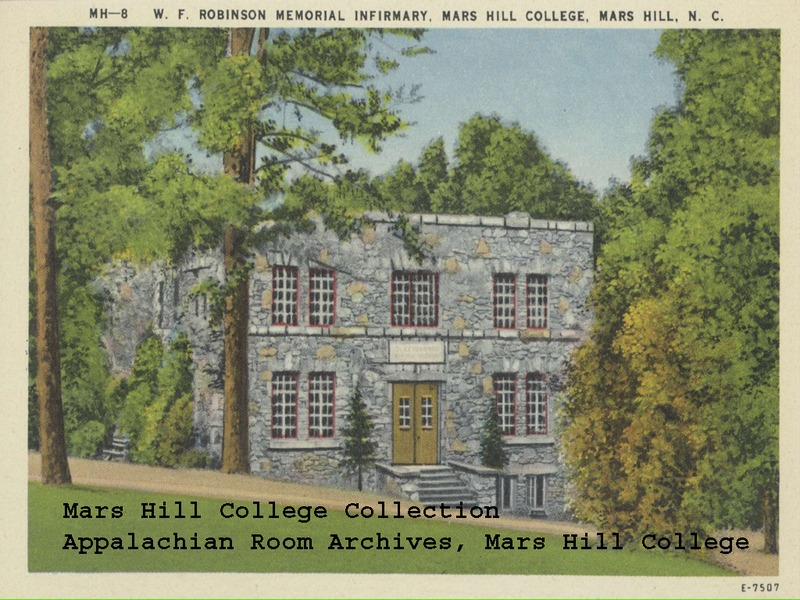 W.F. Robinson Infirmary postcard from the Southern Appalachian Archives.