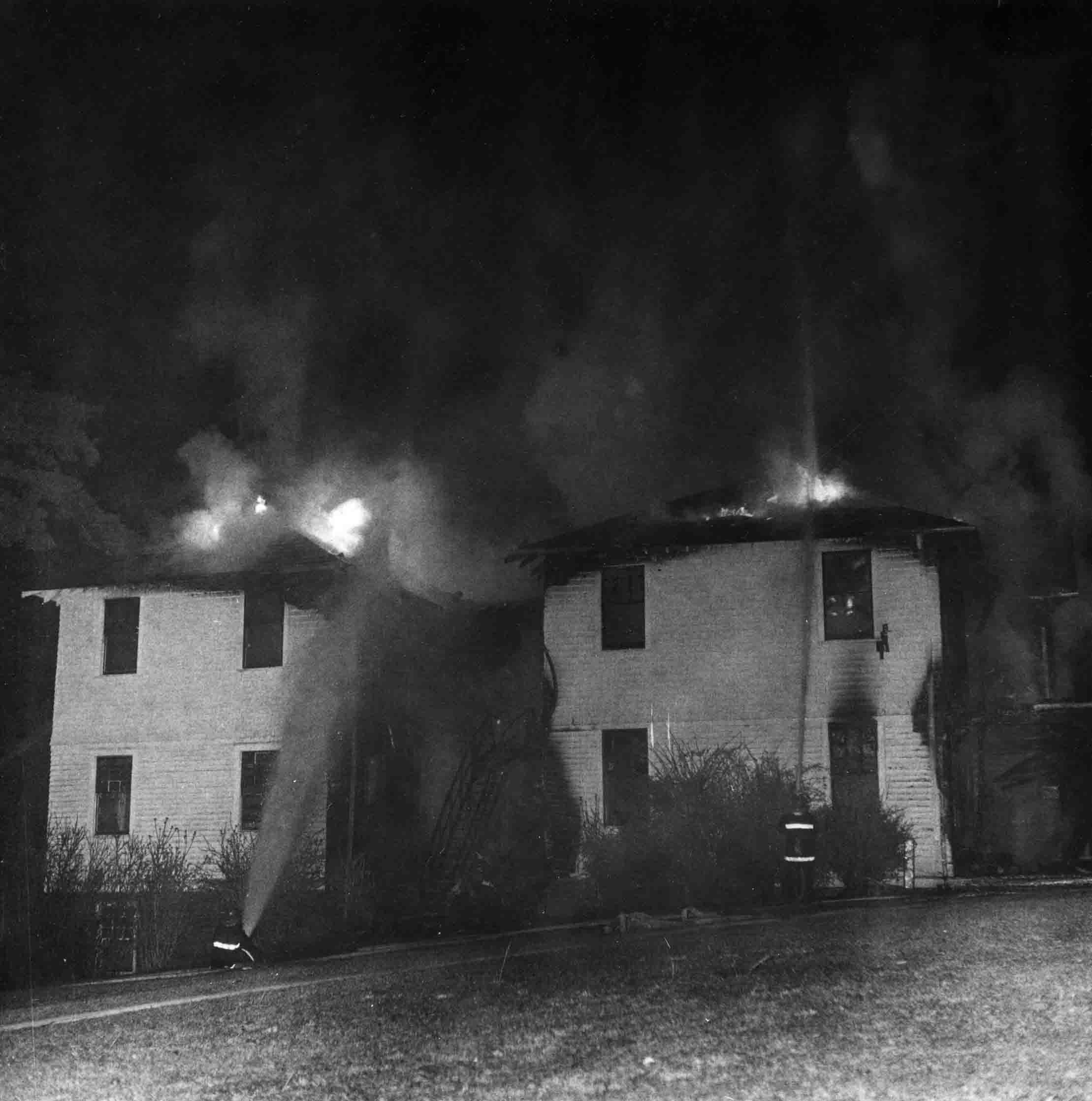 Treat Dormitory on Fire; March 2, 1977.