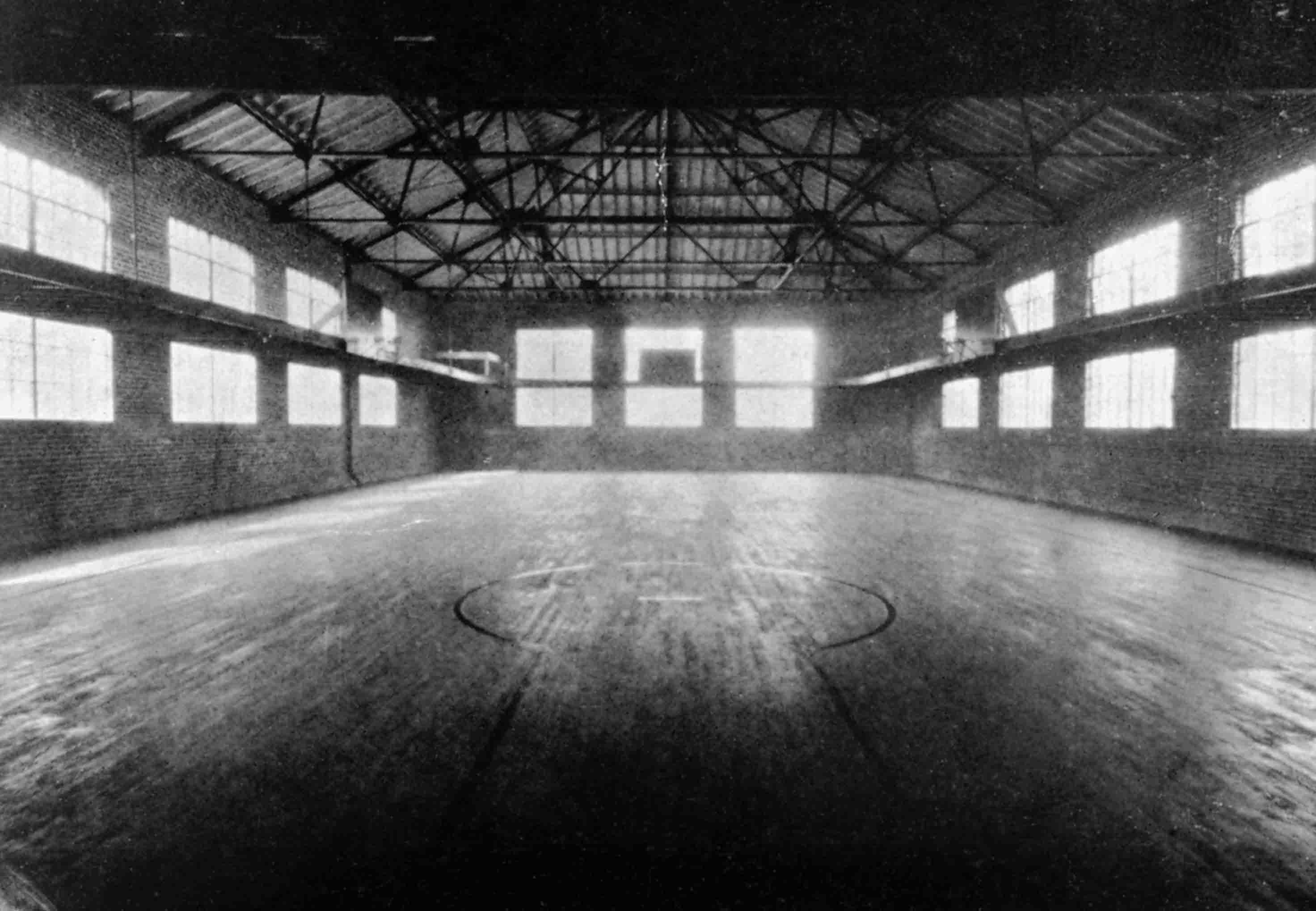 Interior of McConnell Gym, 1924
