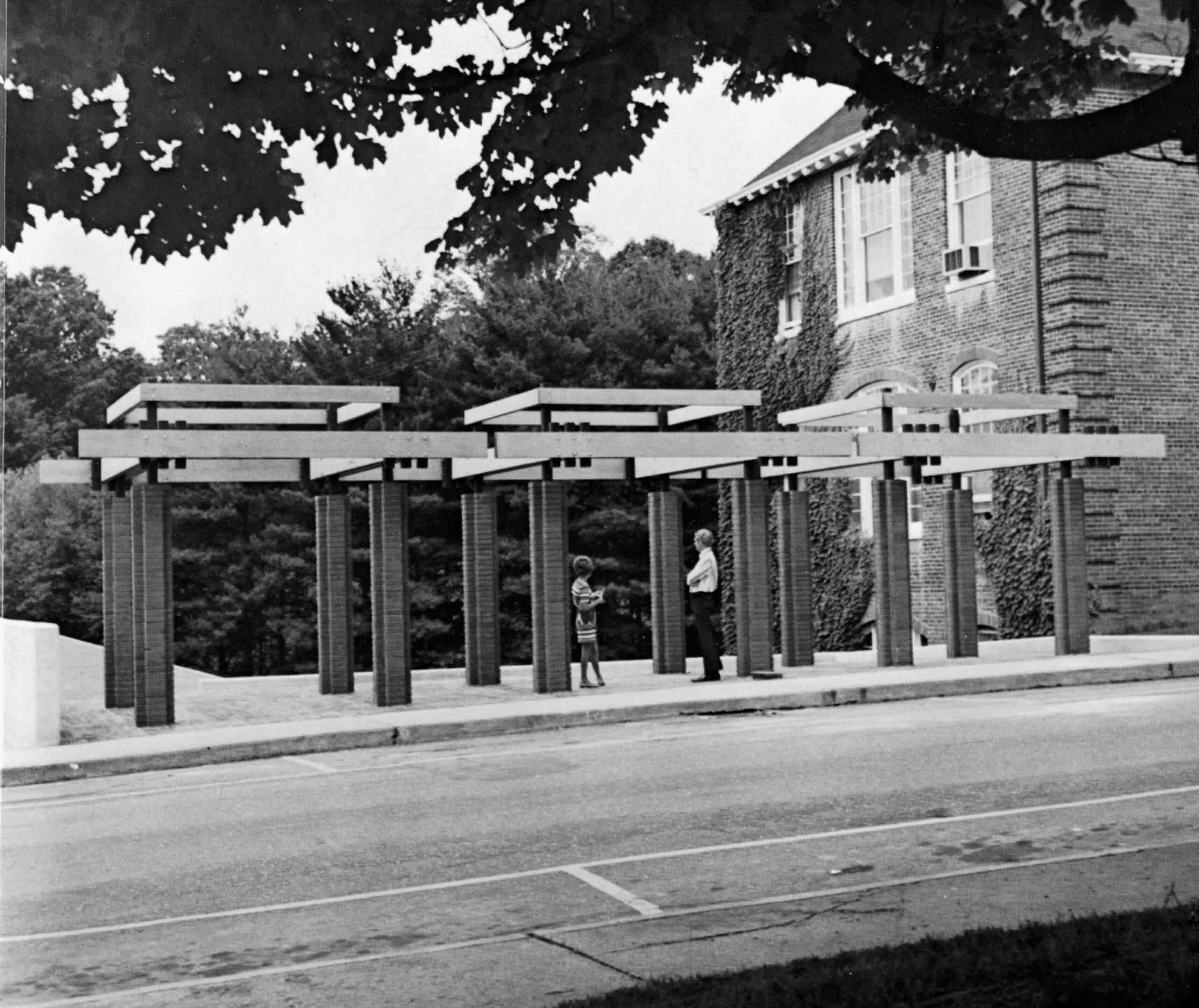 Entrance to the Anderson Amphitheater, 1975.