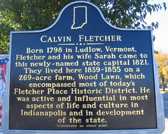 Front side of historic marker