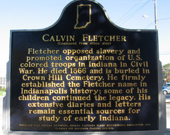 Back side of marker