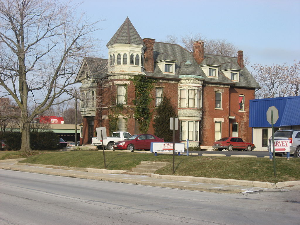 House built in 1895 for Fletcher's grandson, Calvin I. Fletcher (III), in Indianapolis