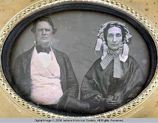 1856 daguerreotype of Calvin and Keziah Fletcher