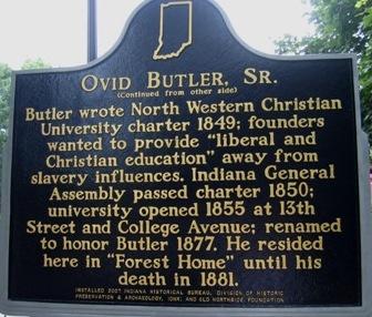 Back side of historic marker