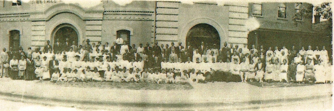 Meeting at Church July 27, 1918. Image Source: Bethel Archives