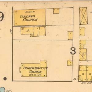 Map denoting where the Georgia Street chapel was located