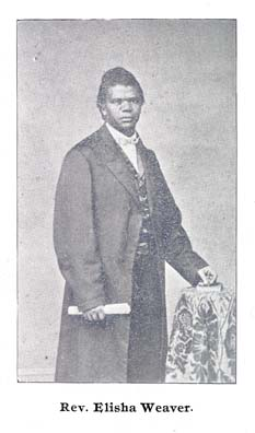 Bethel A.M.E church reverend, Elisha Weaver. He was active in abolitionism and recruiting of colored troops during the Civil War. Circa 1865