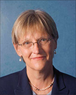 Photograph of Drew Gilpin Faust, courtesy of Harvard University.