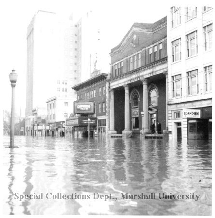 The Orpheum during the flood of 1937