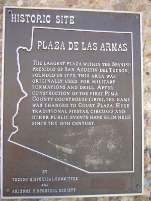 The Plaza de las Armas historical marker
