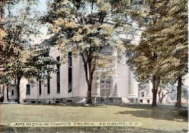Postcard of the church, c. 1910s (source: Newburgh DRC website)