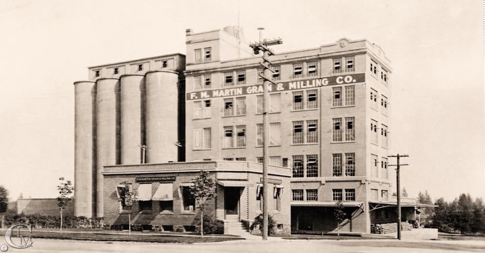 F.M.Martin Grain & Milling Company about 1922.
