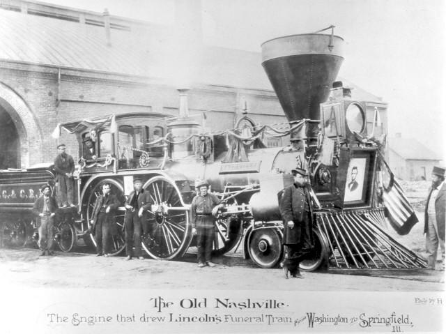 """Old Nashville,"" the train engine that carried Lincoln's body"