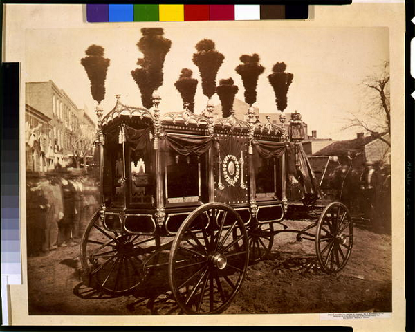 Lincoln funeral carriage in Springfield, its final destination.