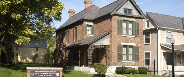 The Paul Laurence Dunbar House was built in 1894. Dunbar lived here between 1904-1906.