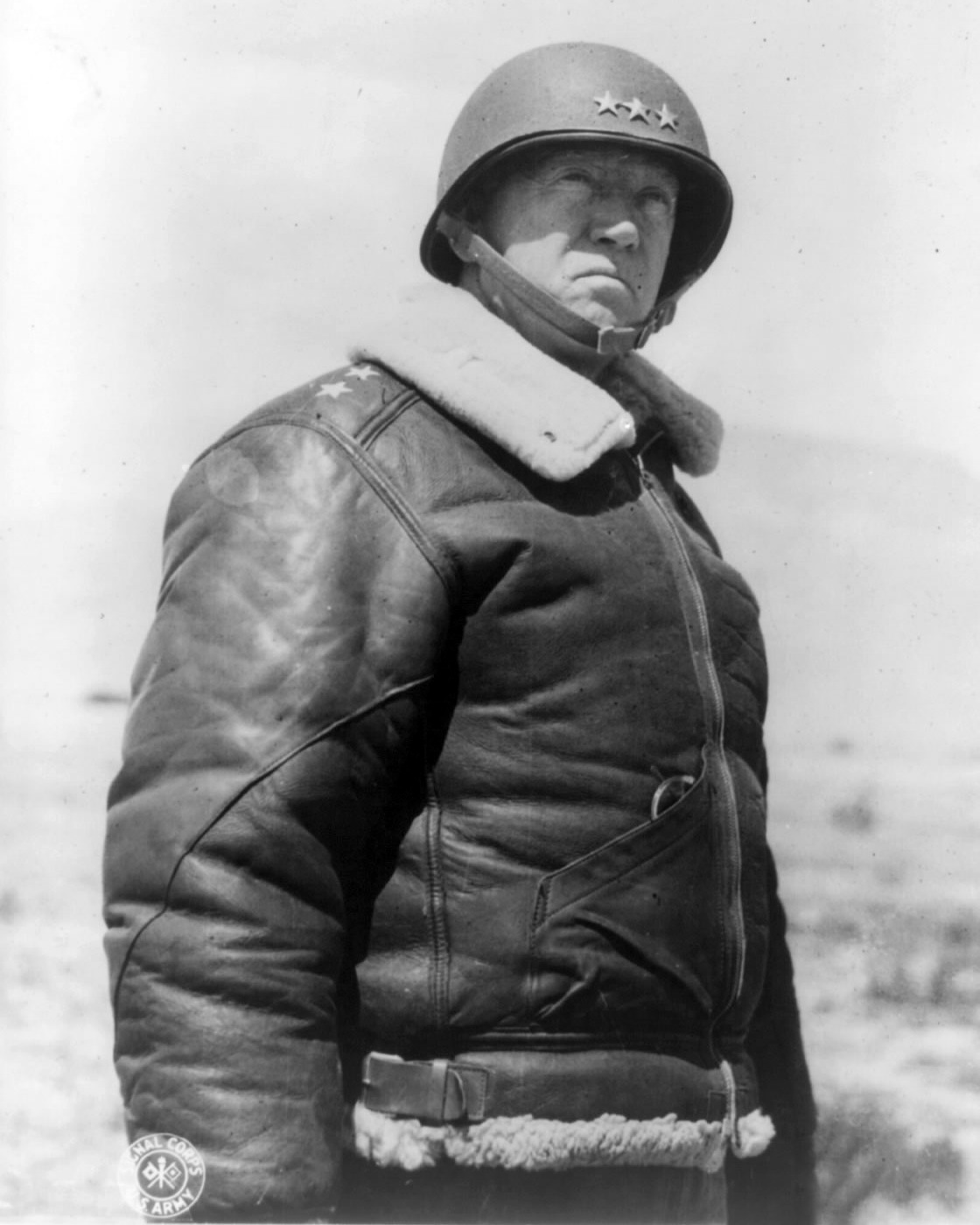 A photography George S. Patton