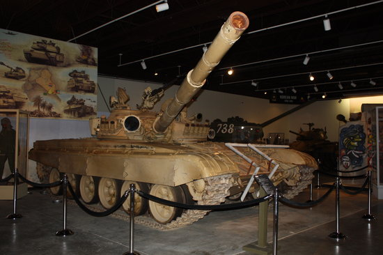 Tank on display in the Patton museum