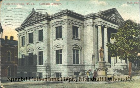 Postcard of the library from 1911