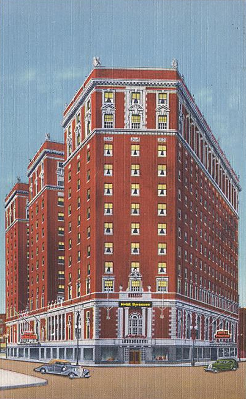 Historical view of hotel.