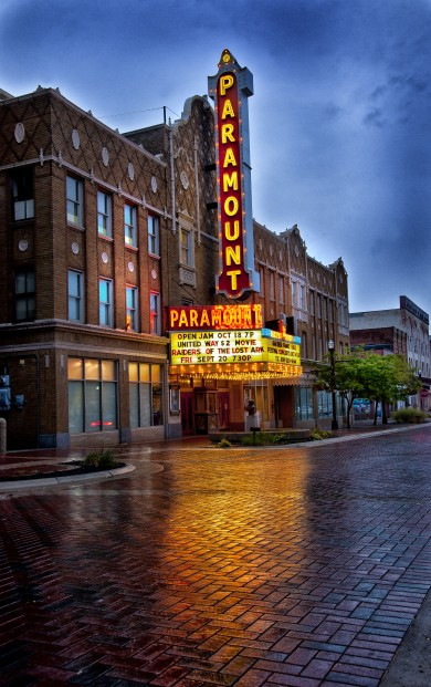 Outside of the Paramount Theatre