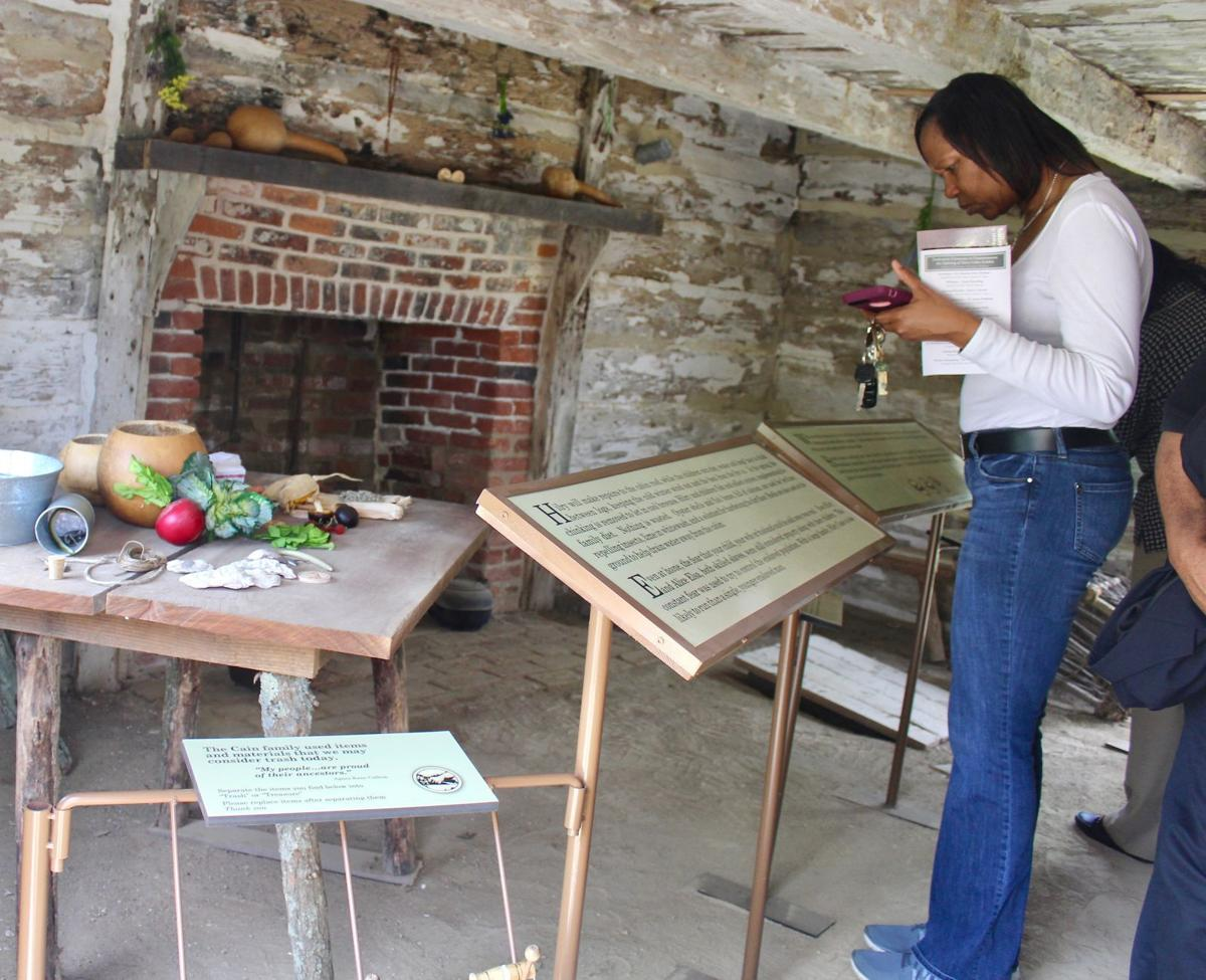 The slave cabin exhibit shows life in the 19th century and is based on the research and oral traditions of Agnes Kane Callum, whose ancestors walked these spaces both enslaved and free.