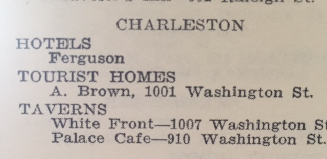 Other listings in the Charleston area (1940 Edition).