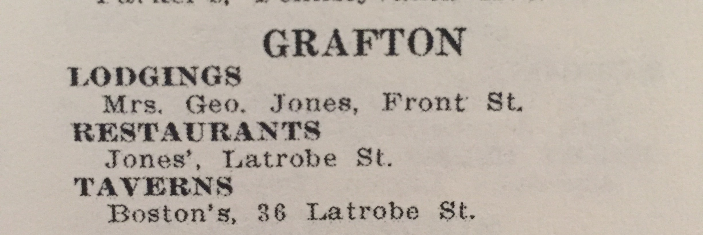 More listings in the Grafton area in the 1954 edition.