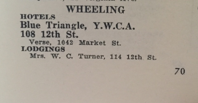 Other listings in the Wheeling area in the 1954 edition.
