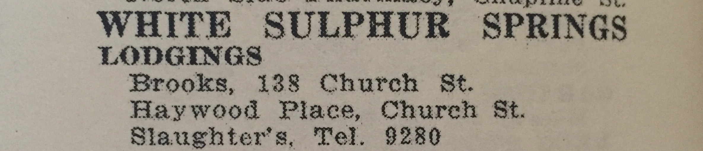 Other listings in the Williamson area in the 1954 edition.