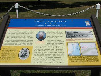 Fort Johnston Historical Placard
