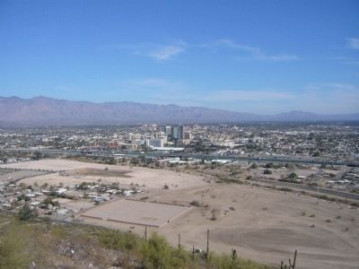 The view of Tuscon from the peak.