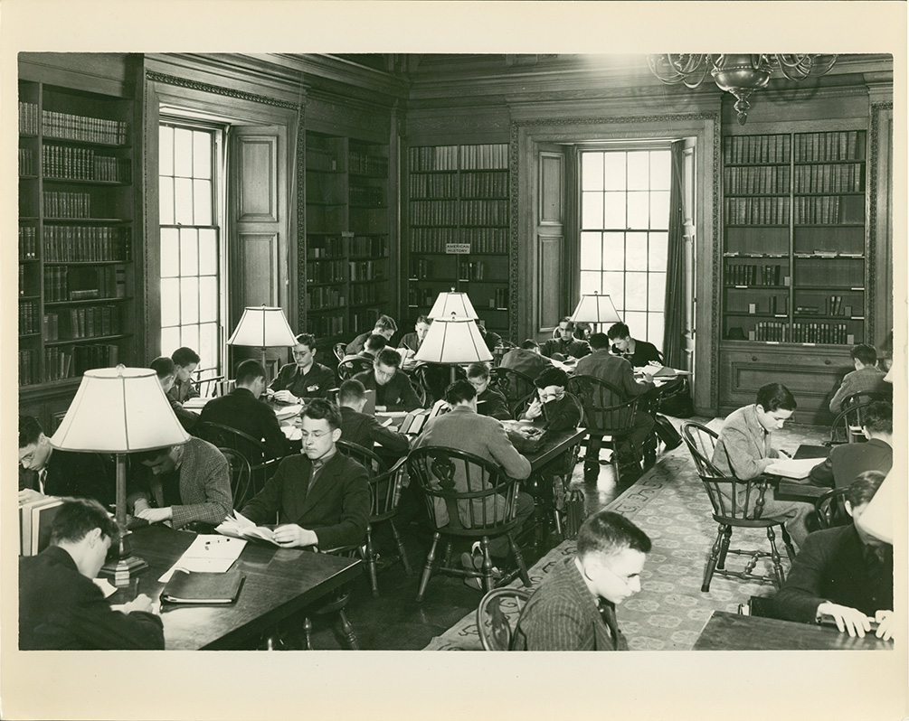 Oliver Wendell Holmes Library, 1930s. Photograph by Francis Cookson.