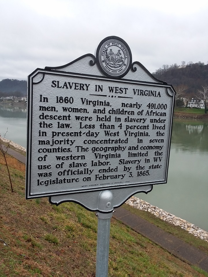 Slavery in West Virginia Highway Historical Marker