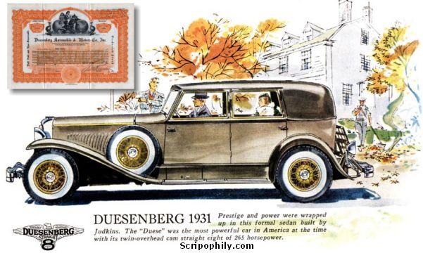Ad for a Duesenberg
