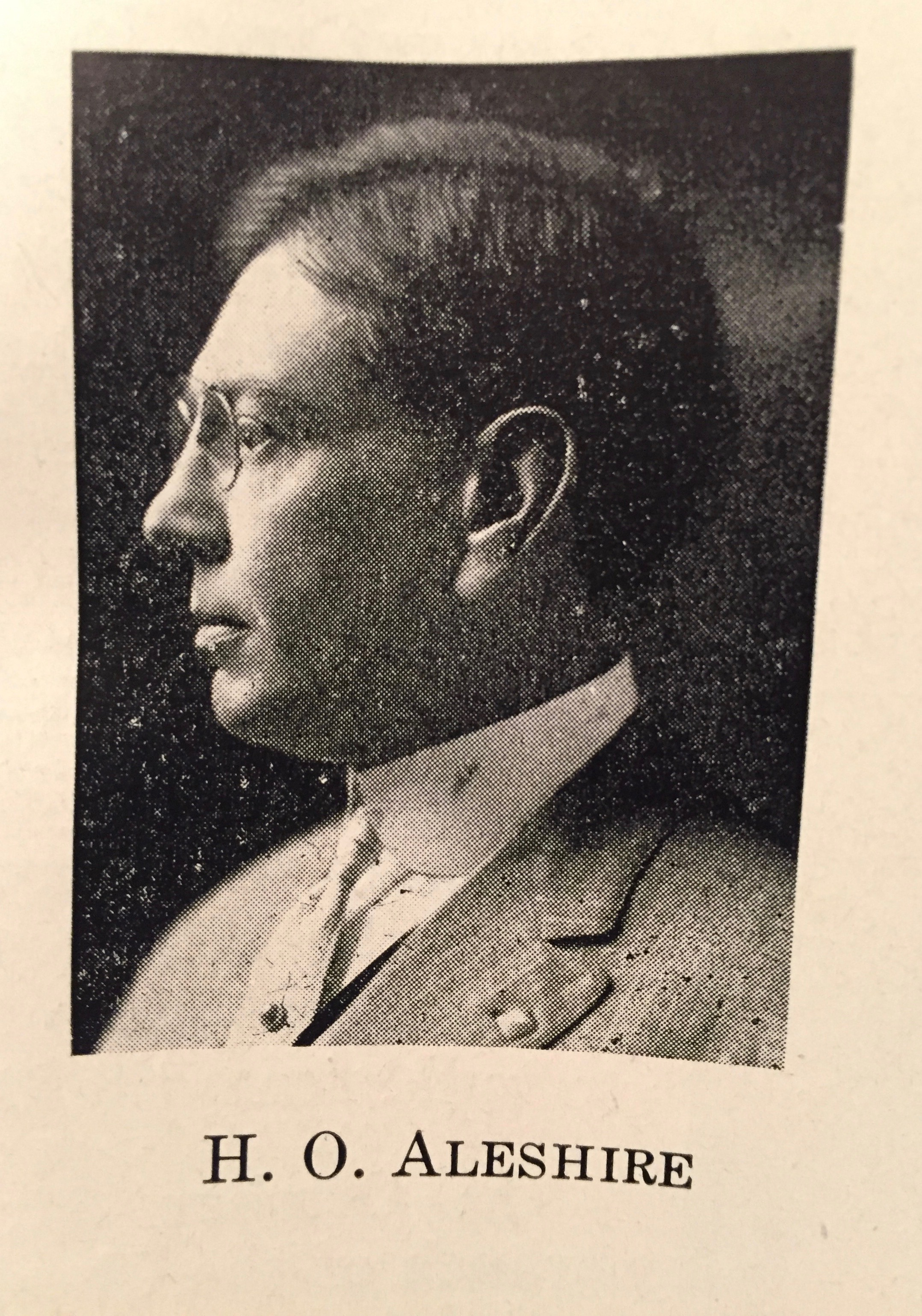 Photo of Henry O. Aleshire, cashier for the bank.