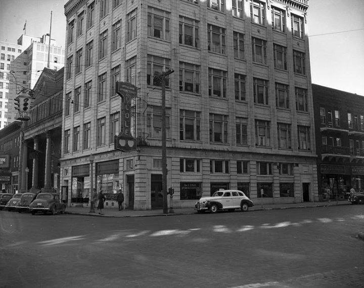 Photo of the building when it housed Cole Optical in the 1940s, photo courtesy of David Smith.