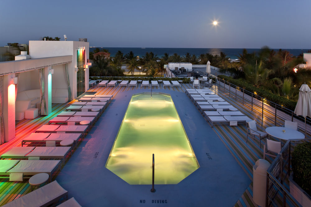 The Hotel's rooftop pool and lounge area.