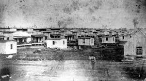Historic photo of Camp Chase during the war