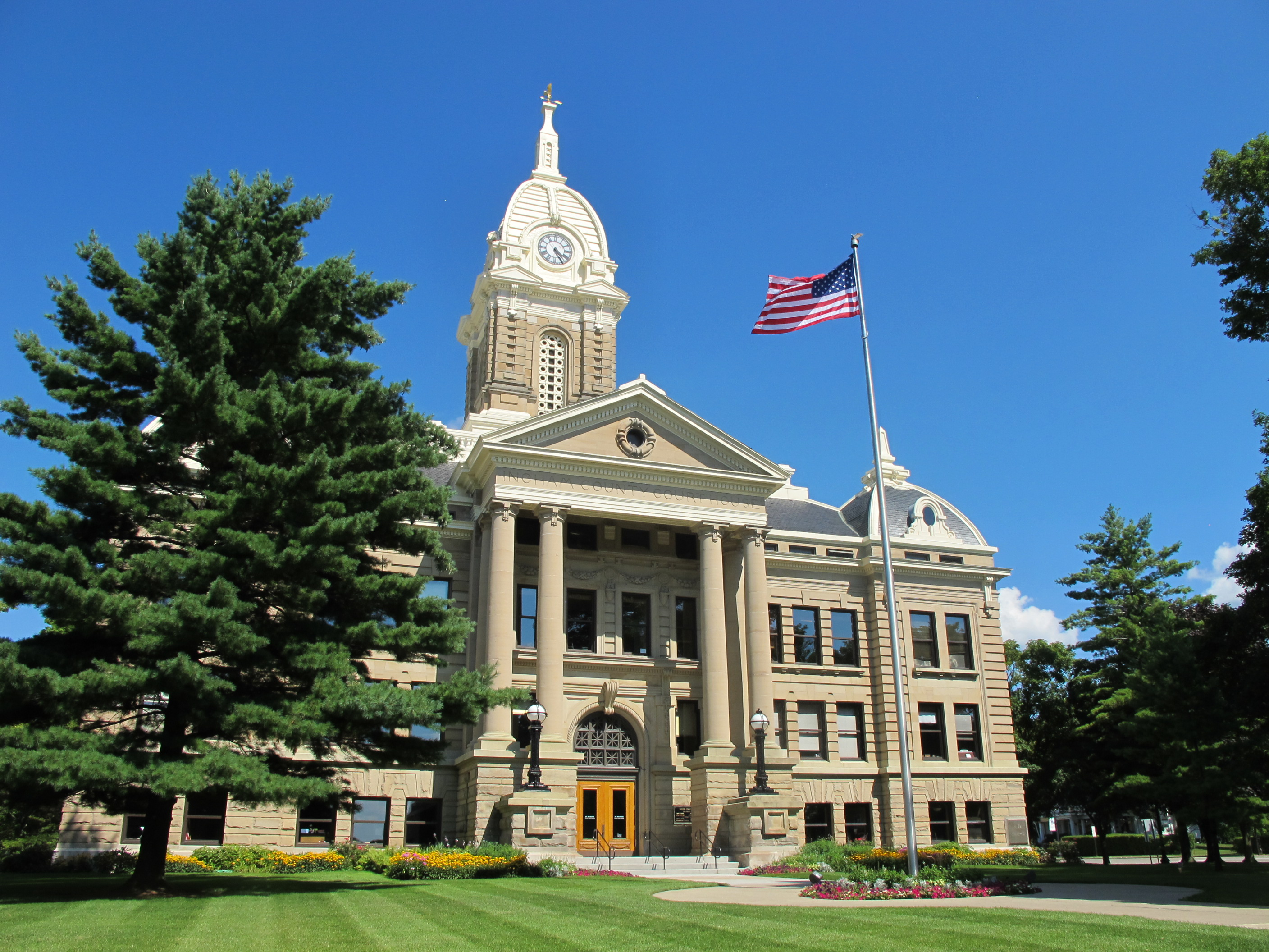 The Ingham County Courthouse in Mason, Michigan, was added to the National Register of Historic Places in 1971.