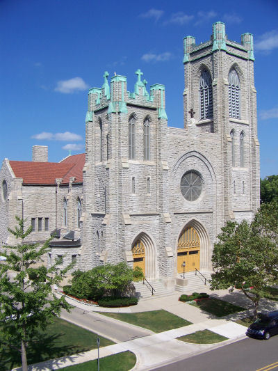 St. Mary Cathedral in Lansing, Michigan is listed on the National Register of Historic Places.
